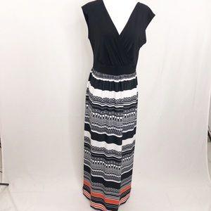 AB Studio Summer Long Sleeveless Maxi Dress, Med